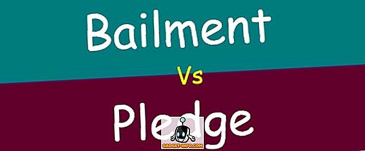 차이점 - Bailment와 Pledge의 차이점