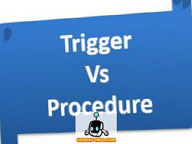 Różnica między wyzwalaczem a procedurą