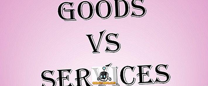 Unterschied zwischen Waren und Dienstleistungen
