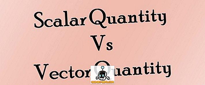 Rozdíl mezi skalárním a vektorovým množstvím