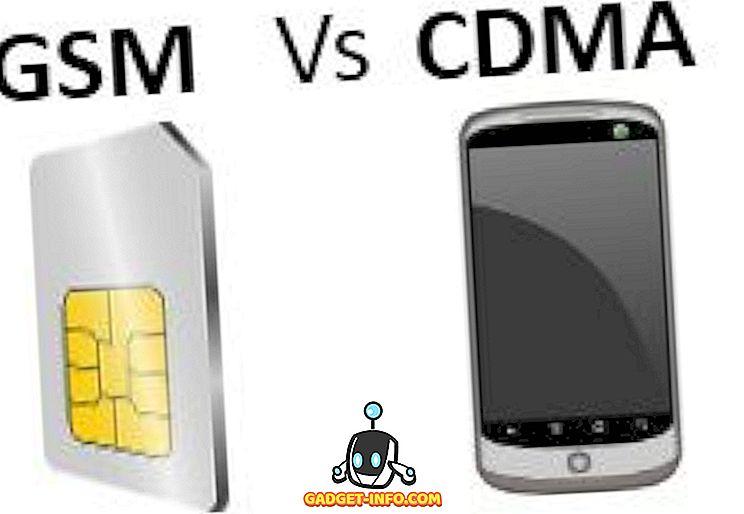 Erinevus GSM ja CDMA vahel