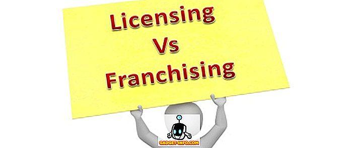 Atšķirība starp licencēšanu un franšīzi