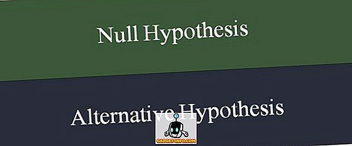 Erinevus null- ja alternatiivse hüpoteesi vahel
