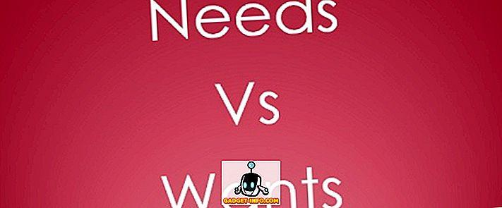 Perbezaan Antara Keperluan dan Ingin