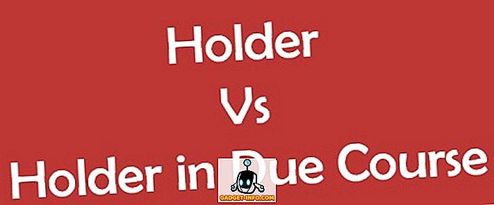 Forskel mellem indehaver og indehaver i efterfølgende kursus (HDC)