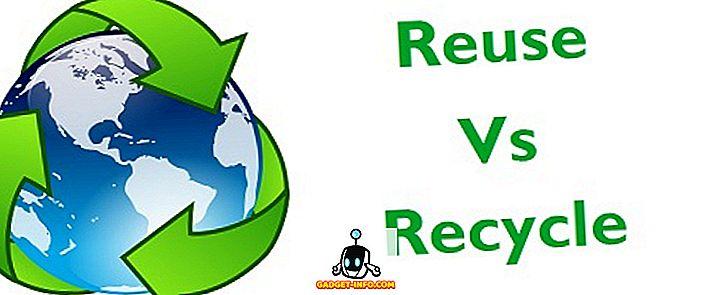 Rozdíl mezi opakovaným použitím a recyklací