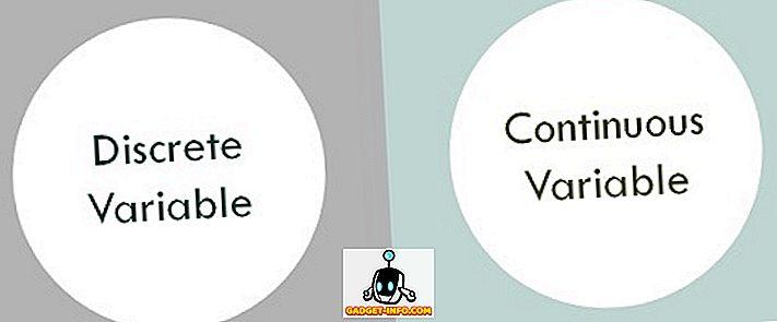 Diferența între variabilele discrete și continuu