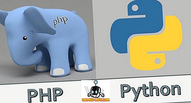 PHP ja Pythoni erinevus