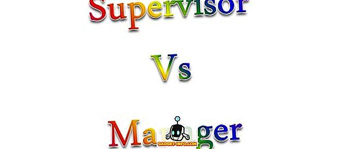 Razlika između nadzornika i upravitelja