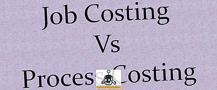 Diferența dintre costul locului de muncă și costul procesului