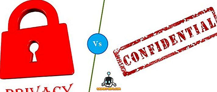 Разлика между поверителност и поверителност