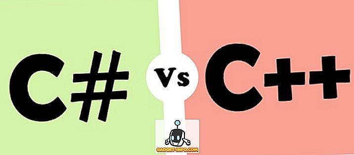 Erinevus C # ja C ++ vahel