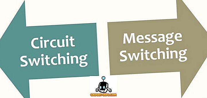 सर्किट स्विचिंग और संदेश स्विचिंग के बीच अंतर