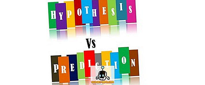 Unterschied zwischen - Unterschied zwischen Hypothese und Vorhersage