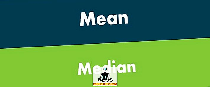 різниця між - Різниця між середнім і середнім