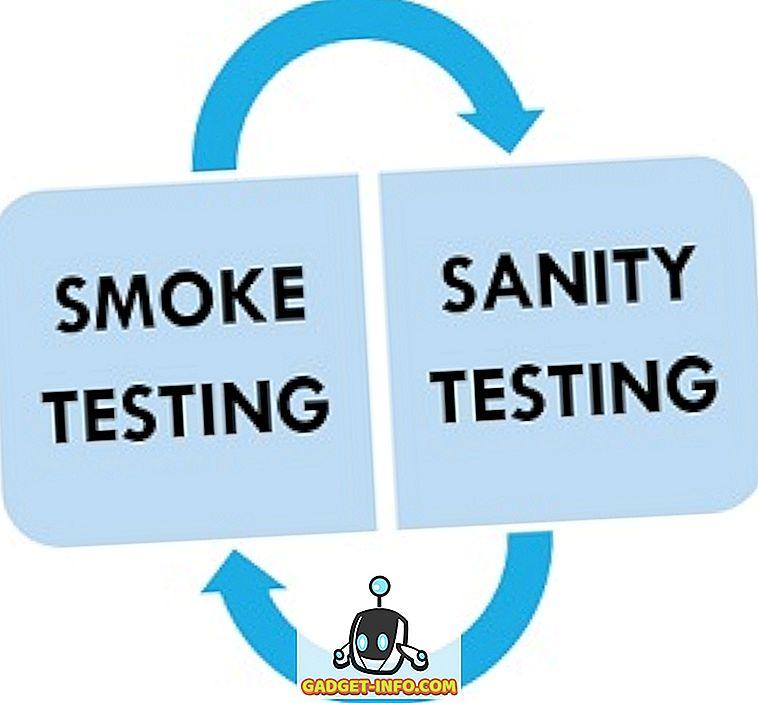 الفرق بين اختبار الدخان والاختبار