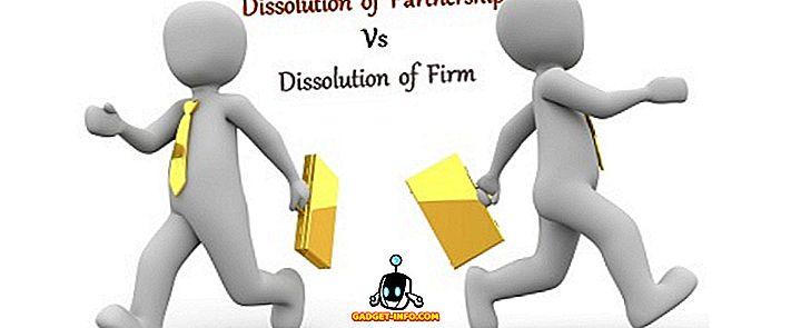 Unterschied zwischen - Unterschied zwischen der Auflösung der Partnerschaft und der Auflösung der Firma