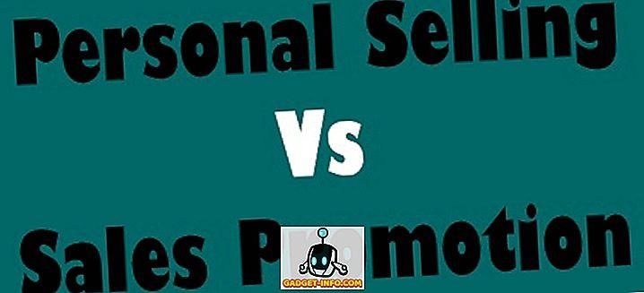 Forskel mellem personlig salg og salgsfremstød