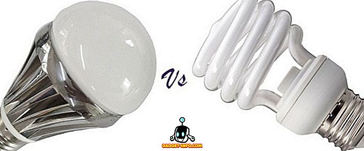 Forskjellen mellom LED og CFL pærer