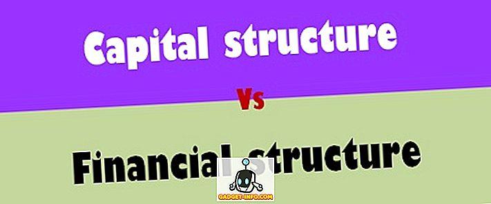 razlika između: Razlika između strukture kapitala i financijske strukture