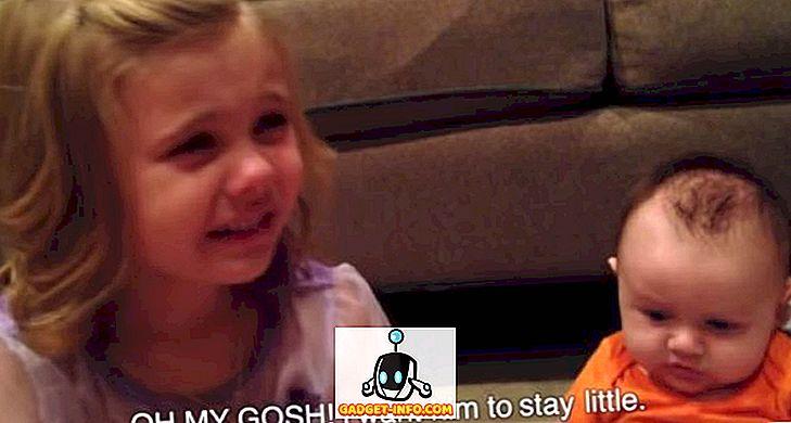 Denne lille pige ønsker ikke, at hendes bror vokser op (video)