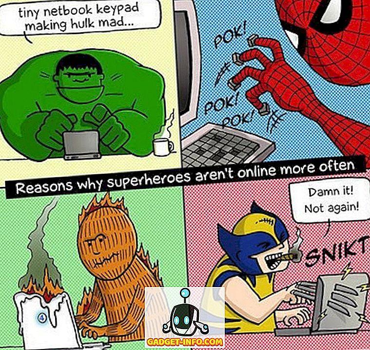 Raisons pour lesquelles les super-héros ne sont pas en ligne plus souvent (BD)