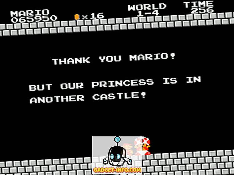 Unterhaltung - Vielen Dank, Mario!  Aber deine Prinzessin ist in einem anderen Schloss