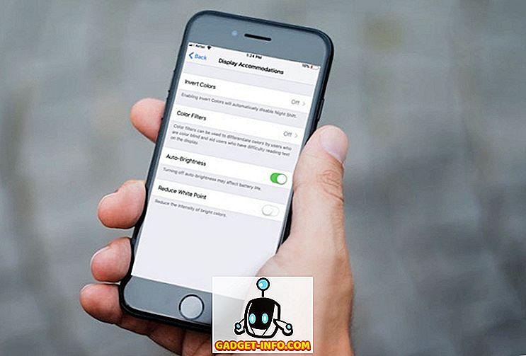 Deaktivieren der automatischen Helligkeit in iOS 11