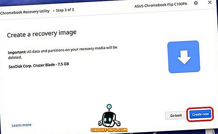 Comment créer une image de récupération dans Chromebook et l