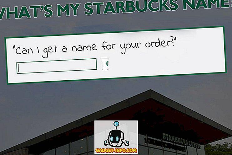 Dette websted fortæller dig dit Starbucks navn