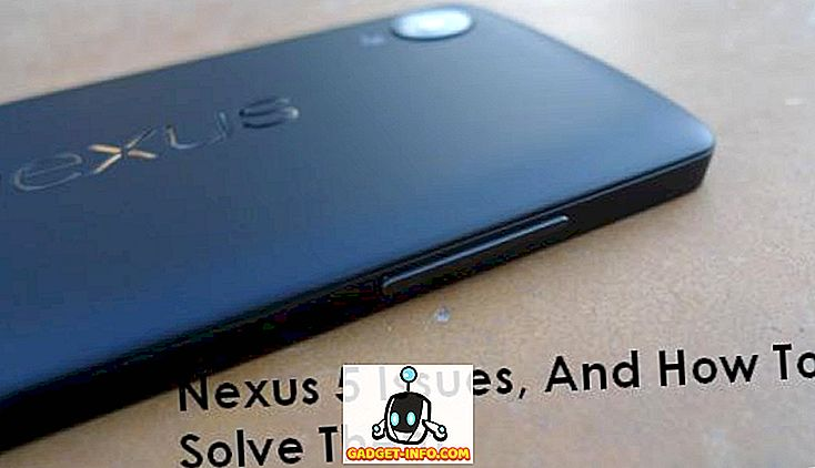 Nexus 5 problemer (problemer) og hvordan man løser dem