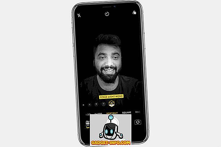 iPhone XS ger Live Previews för porträttbelysningseffekter i kameraprogrammet