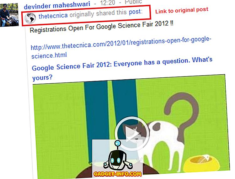 ソーシャルメディア: Google+ Reshareにオリジナル投稿へのバックリンクが追加されました