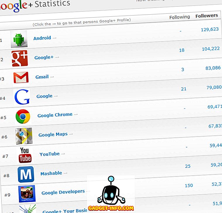 социална медия: Топ 10 на най-популярните страници с марката Google Plus