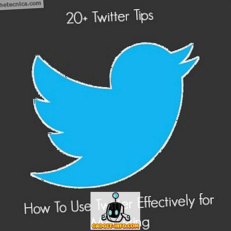20 + Twitter Tips: Hur du använder Twitter effektivt för marknadsföring