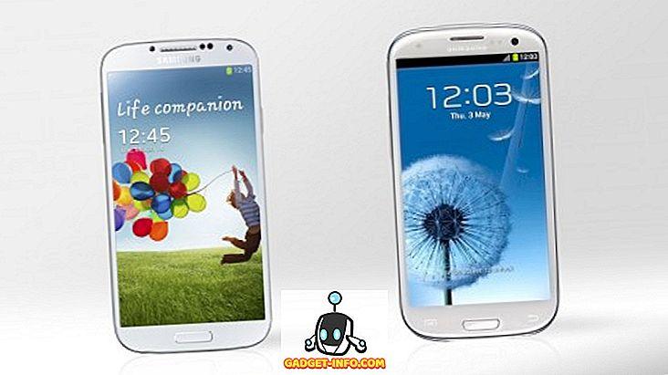 Detaljert sammenligning: Samsung Galaxy S3 Vs Galaxy S4
