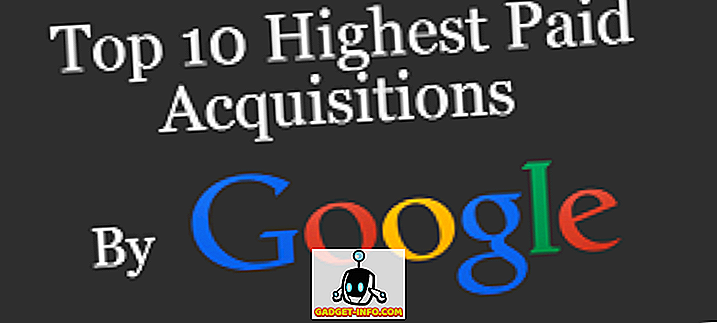 Top 10 kõrgeima tasuga Google'i omandamine (Infographic)