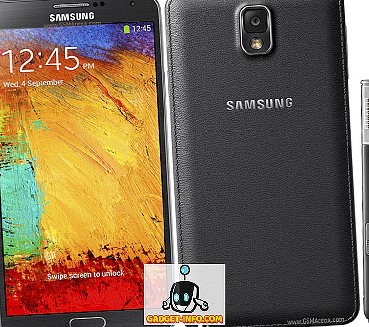Specificațiile Samsung Galaxy Note 3, prețul și data lansării în India