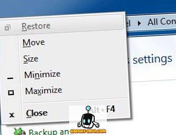 Перемістіть вікно з клавіатури в Windows 7/8/10