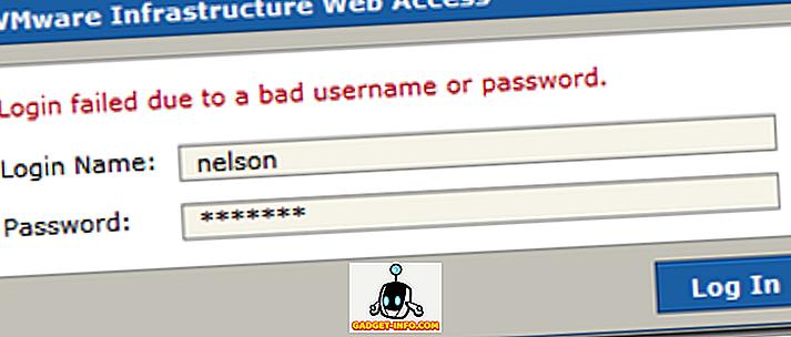VMware Server Web Access Standard brugernavn og adgangskode