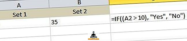Как да напишем формула IF / изявление в Excel