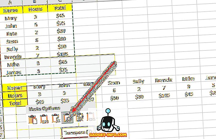 windows hjælp: 2 måder at bruge Excel's Transpose funktion