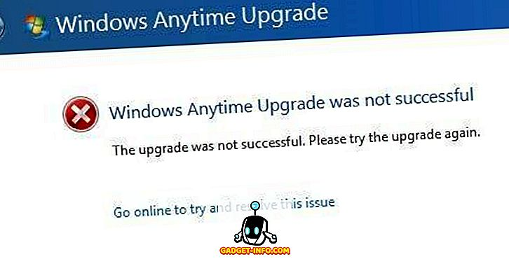"ferestre ajutor - Fix ""Windows Anytime Upgrade nu a reușit"" Eroare"