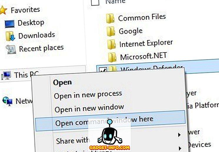 Otevřete příkazový řádek do složky z Průzkumníka Windows