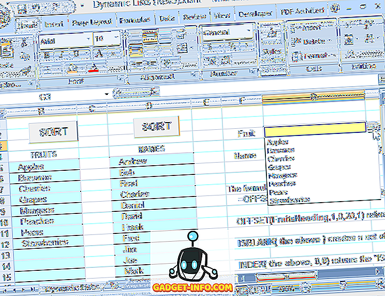 помощь windows - Используйте имена динамического диапазона в Excel для гибких выпадающих