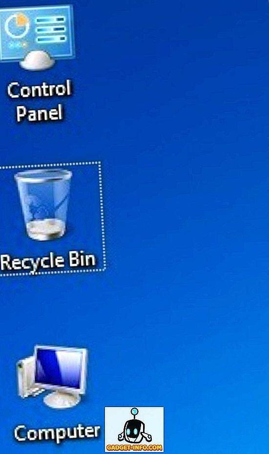 विंडोज डेस्कटॉप पर प्रतीक के आसपास बिंदीदार सीमा हटा दें