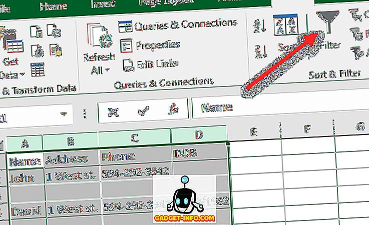 Sådan sletter du tomme linjer i Excel